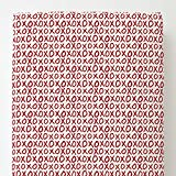 Carousel Designs Red XO Toddler Bed Sheet Fitted
