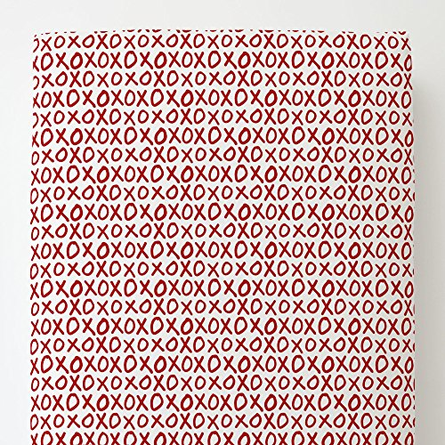 Carousel Designs Red XO Toddler Bed Sheet Fitted by Carousel Designs