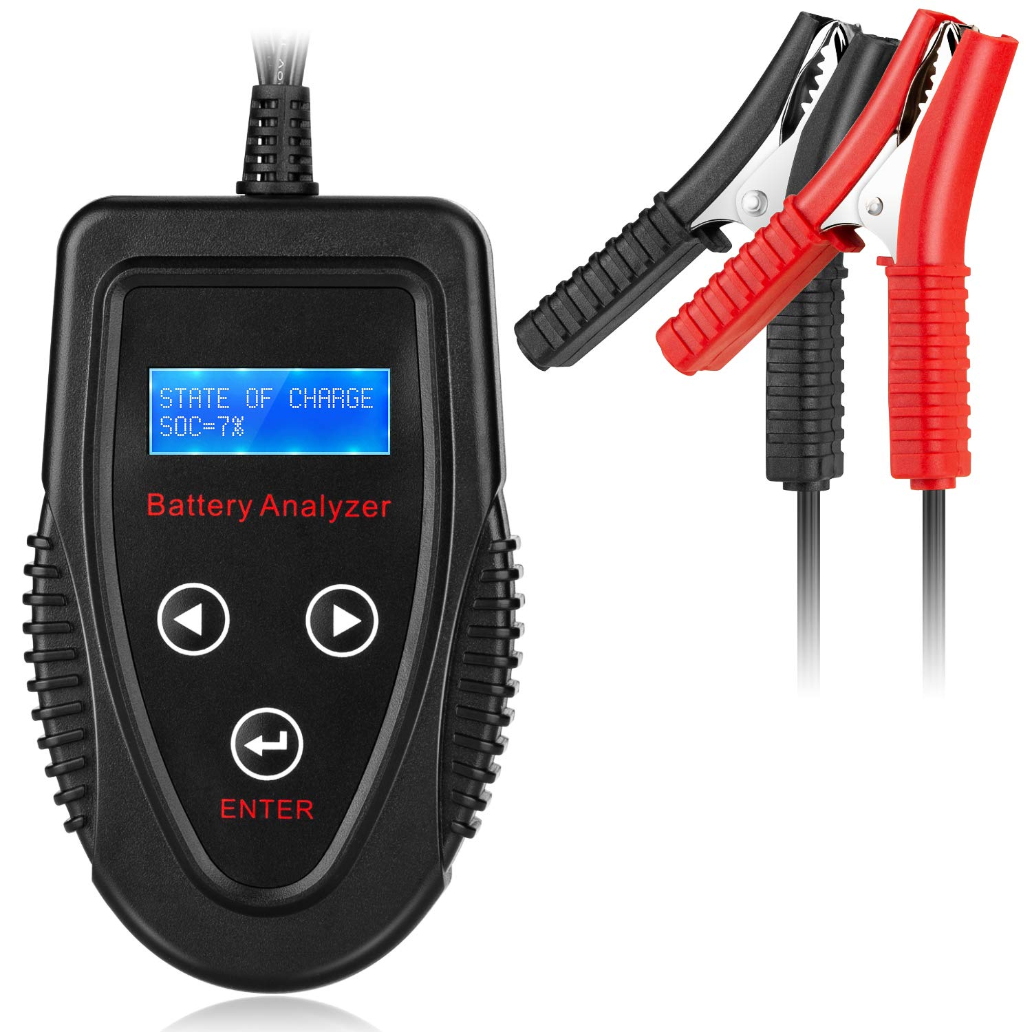 MEEARO Professional 12V 20-1200 CCA 220AH Automotive Load Battery Tester Digital Analyzer Bad Cell Test Tool for Car/Boat/Motorcycle and More by MEEARO (Image #1)