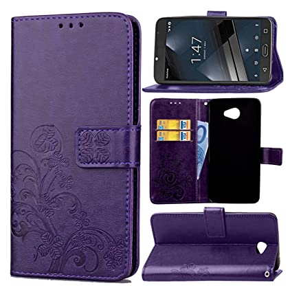 Guran® Funda de Cuero PU para Vodafone Smart Ultra 7 / VFD700 Smartphone Función de