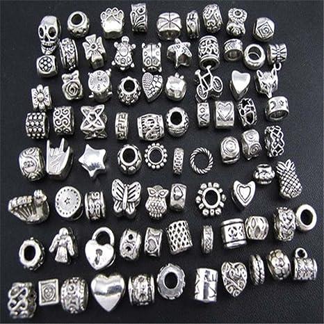 abalorios plata pulsera tipo pandora