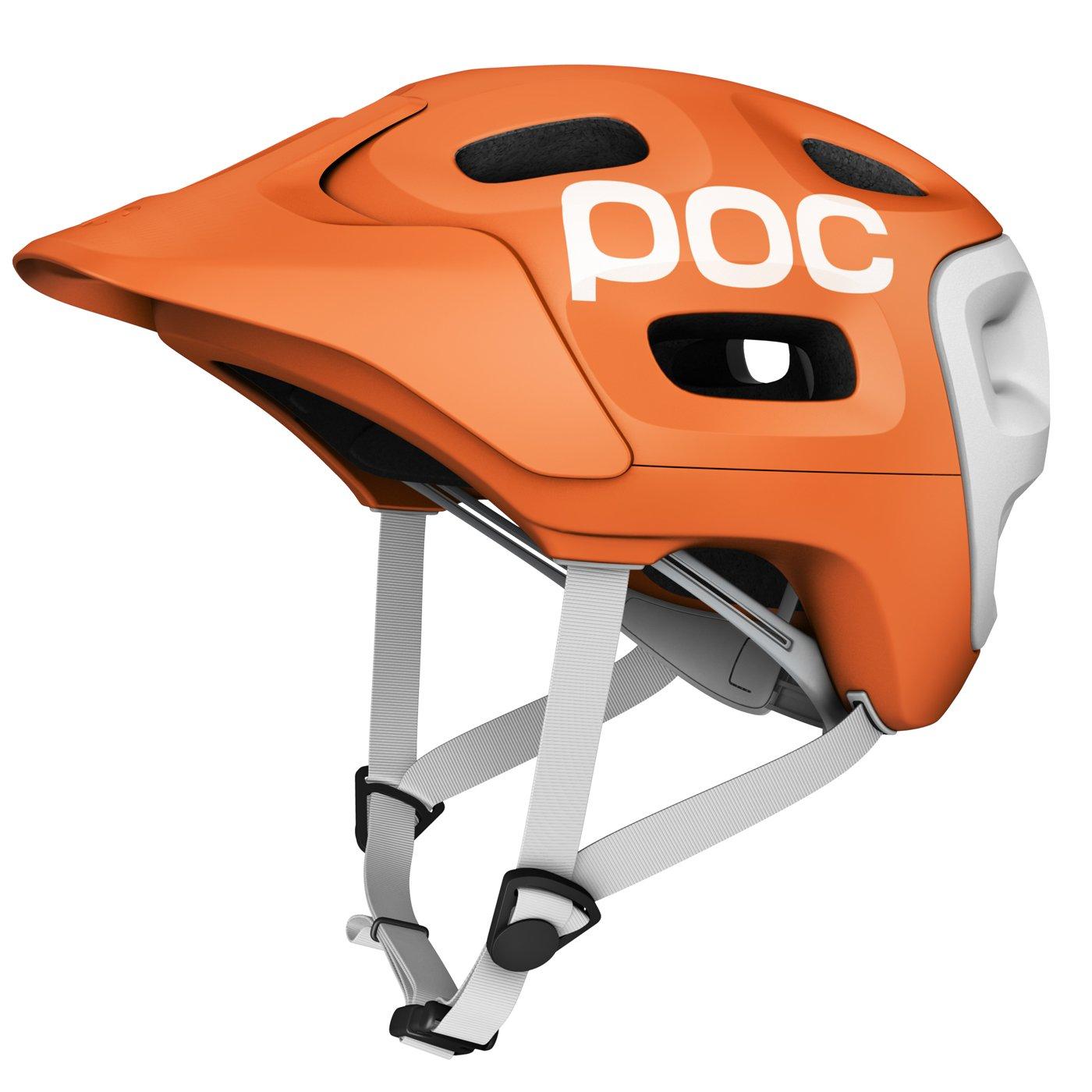 POC 10500_157 Trabec Race Casque de vélo pour homme Orange/Blanc 55-58