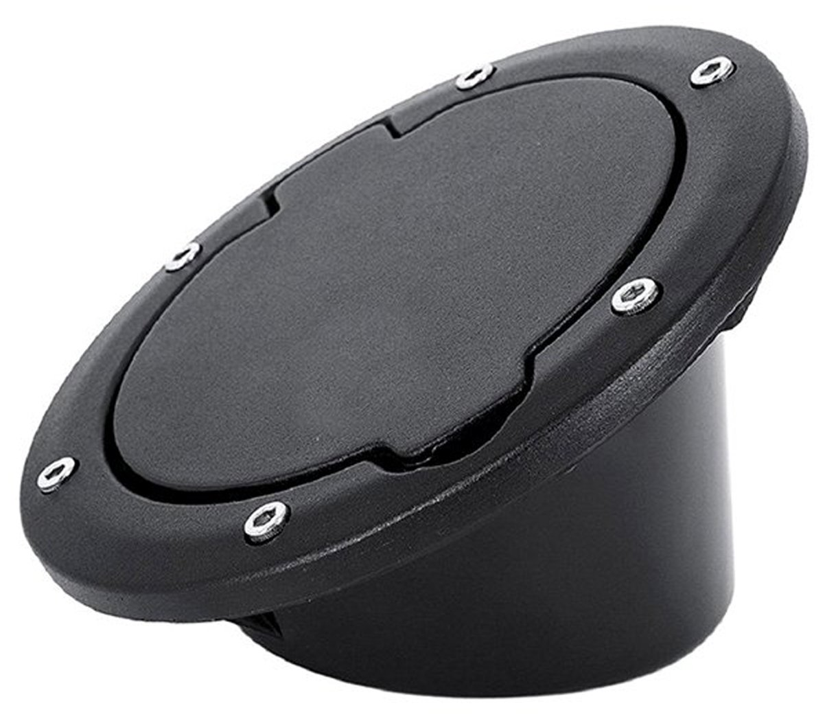 IPARTS Powder Coated Black Steel Gas Fuel Tank Cap Cover for Jeep Wrangler JK JKU Unlimited Rubicon Sahara X Off Road Sport Exterior Accessories Parts 2007-2017 (Smile224)