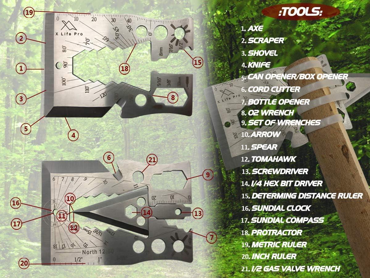 Outdoor Self Survival EDC Edelstahl Notfall Multifunktionswerkzeug Opener X