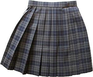 KR277 紺×グレーサックスライン W63・69・72 丈42・48cmKURI-ORI[クリオリ]スリーシーズンスカート