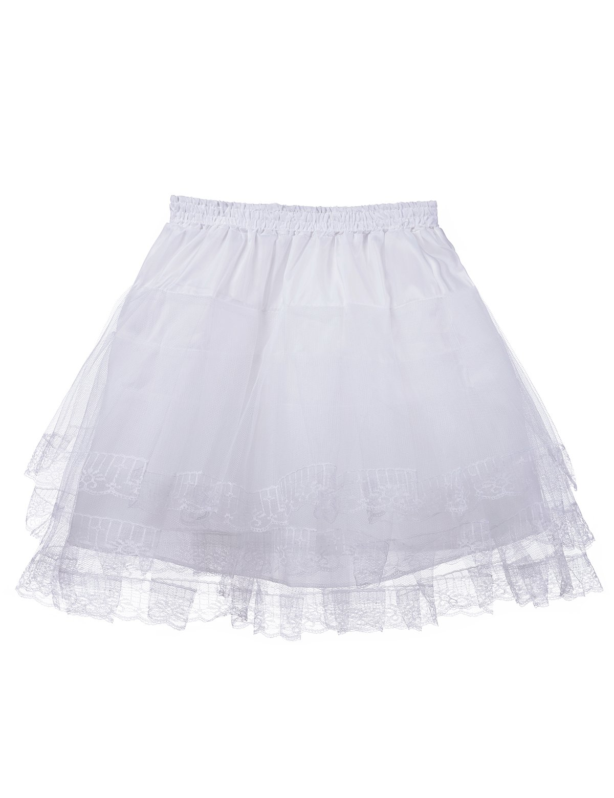 Remedios Kids Mini White Petticoat Flower Girl Wedding Underskirt Cocktail Dress Crinoline Slip White