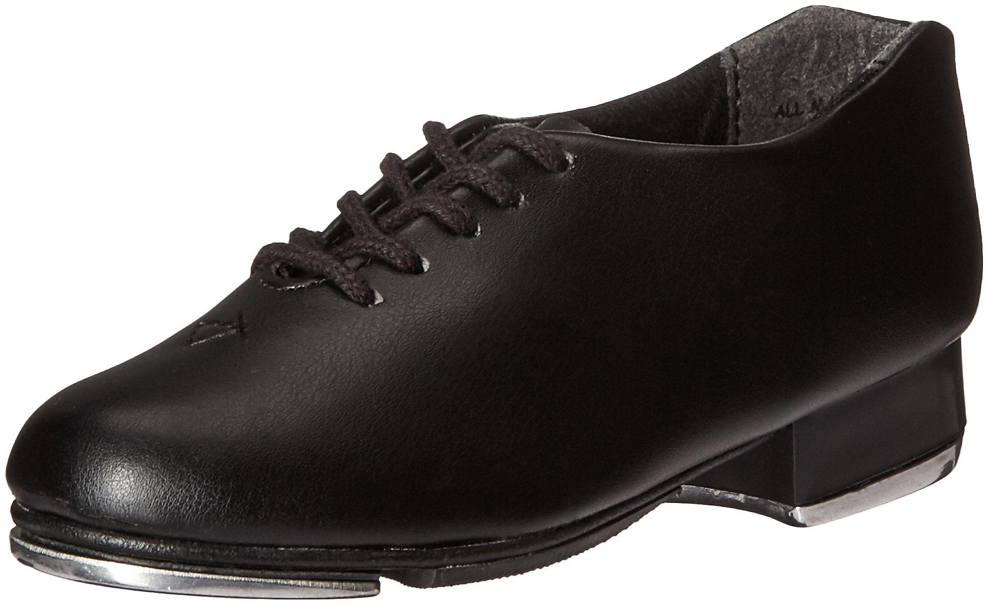 Capezio Kids' Tic Tap Toe Ballet Shoe, Black, 2 M US Little Kid