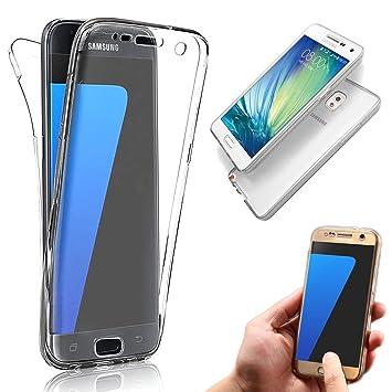 Vandot Samsung Galaxy Note 3 | Funda Carcasa Protectora 360 Grados | TPU en Transparente | Full Body Protección Completa Doble Tapa Delantera + ...