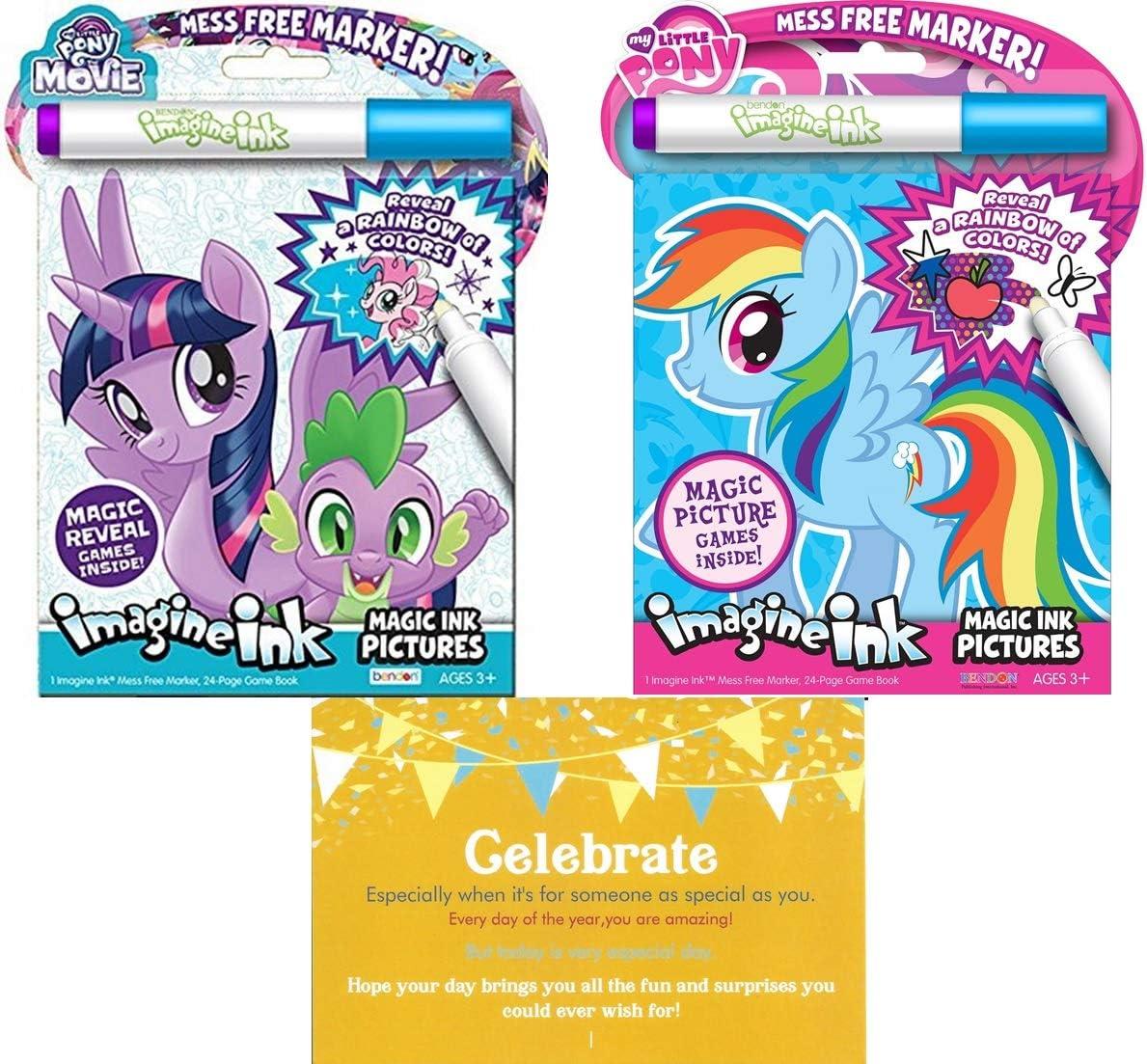 Amazon.es: Bendon My Little Pony Imagine Paquete de 2 Libros de ...