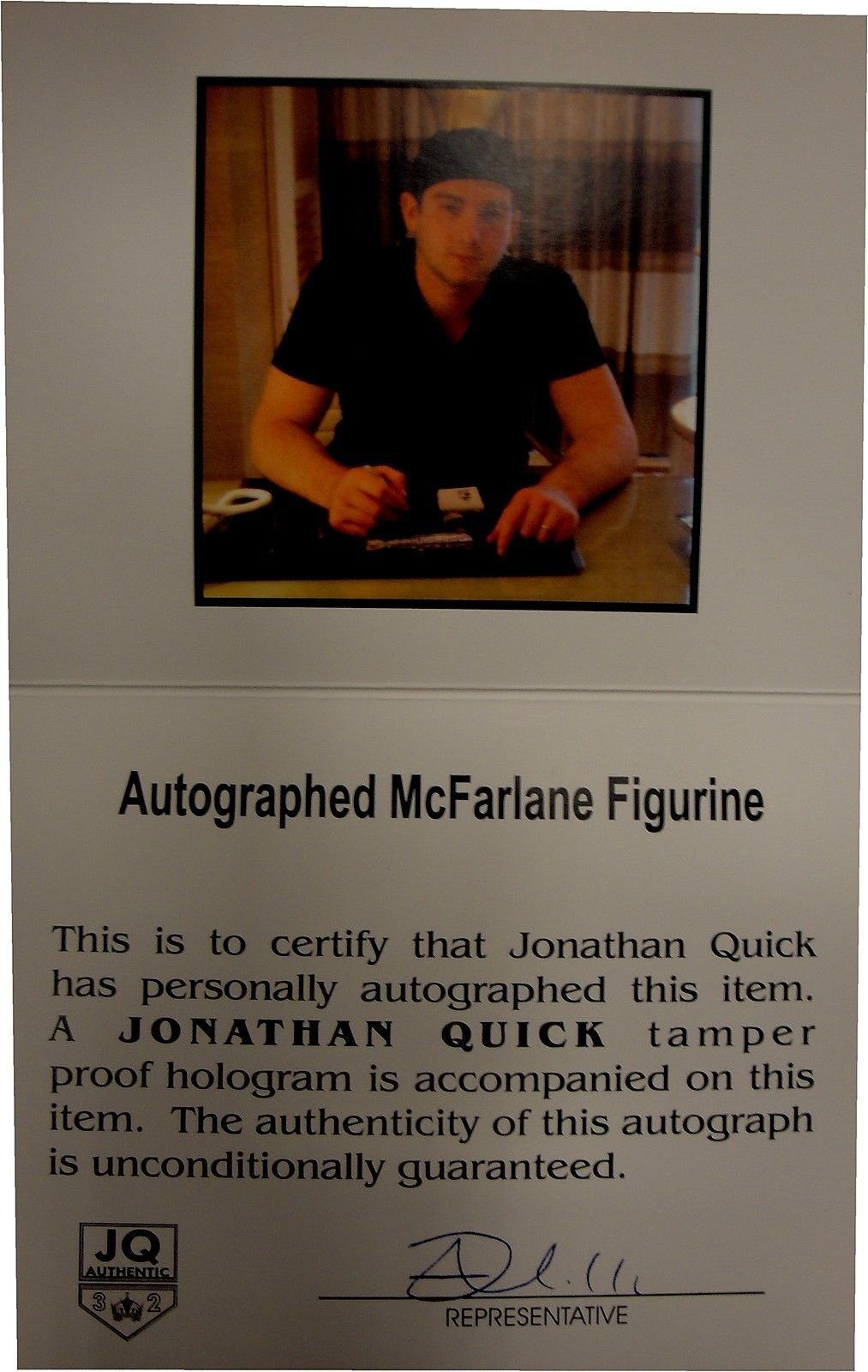 Jonathan Quick Hand Signed Autograph Mcfarlane Exclusive Los Angeles Kings HOLO