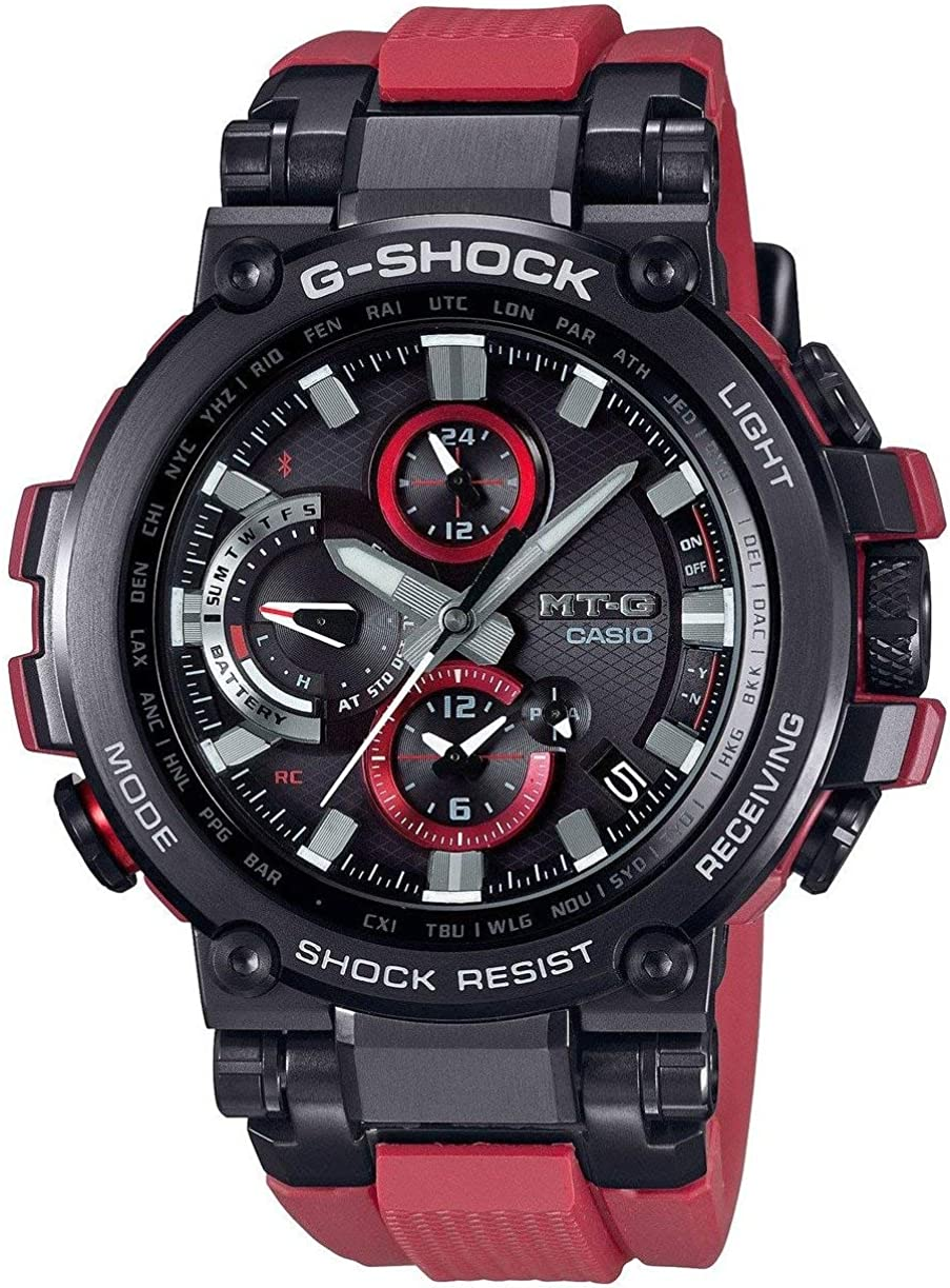 Men s Casio G-Shock MT-G Connected Red Resin Strap Limited Edition Watch MTGB1000B-1A4