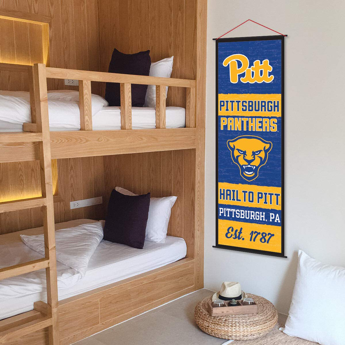 Pittsburgh Panthers Banner and Scroll Sign