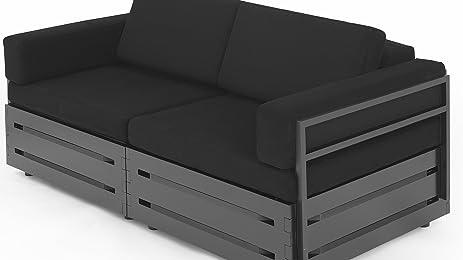 Amazon.com: Slim Furniture Adaptable Studio Apartment Loveseat ...