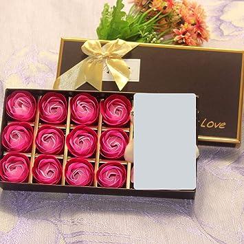 Kreative Weihnachtsgeschenke.Valentinstag Geschenke 12 Rosen Duftende Seife Blumen