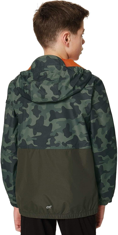 Regatta Childrens Akiro Waterproof Lined Hooded Shell Jacket
