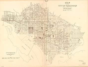 Amazon.com: Vintage 1885 Map of Map of the city of ...