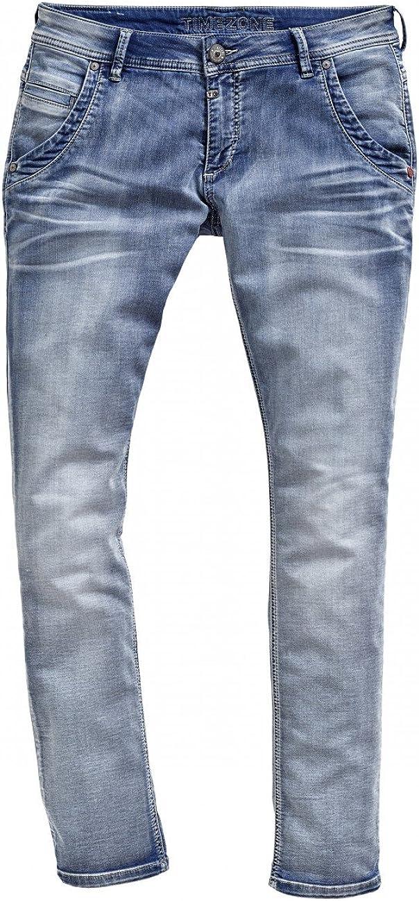 Timezone Damen Jeans Romy Jogg - Regular Fit - Blau - Aqua Blue Wash Aqua Blue Wash (3039)