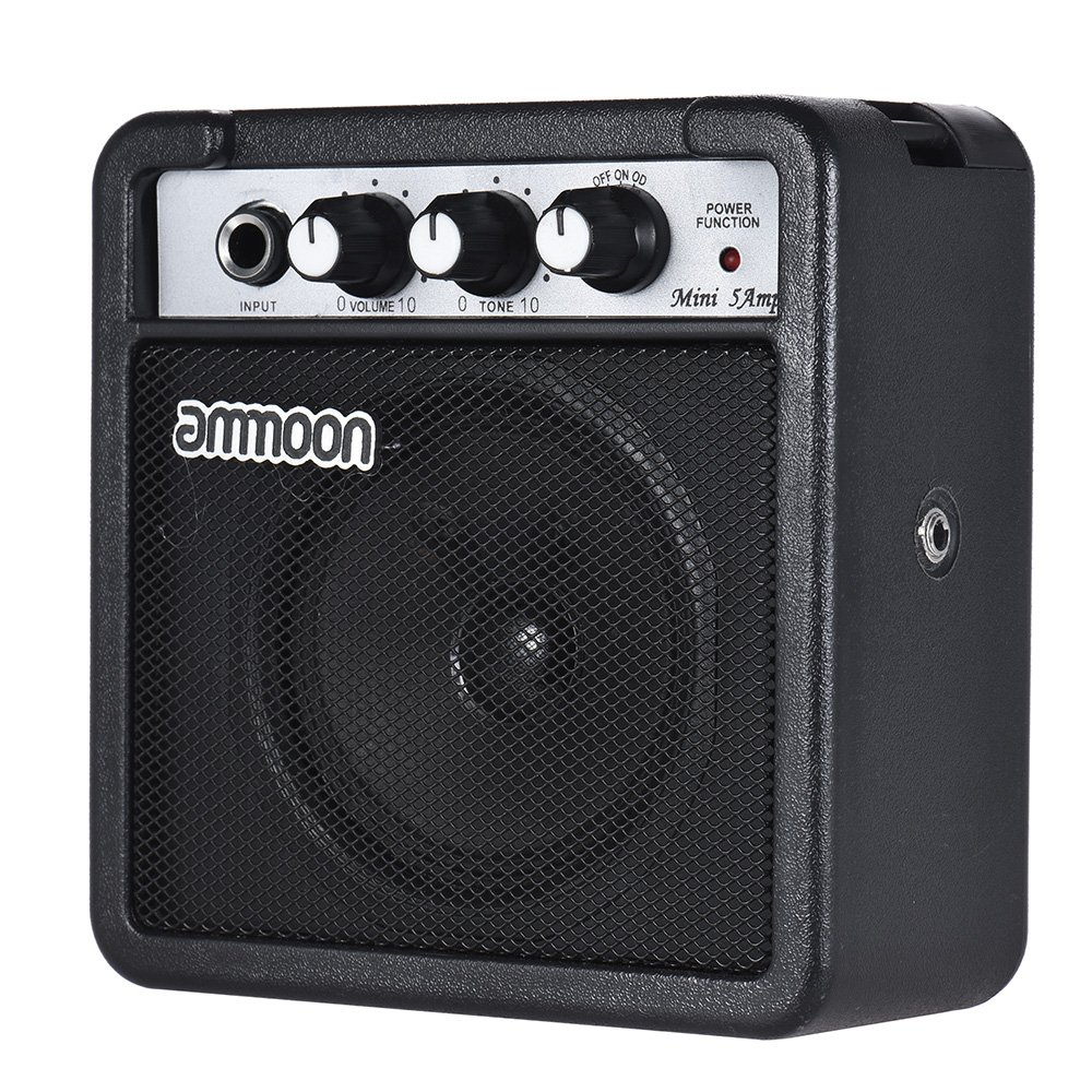ammoon Amplifier Speaker 5 Watt 9V Battery Powered for Acoustic/ Electric Guitar Ukulele High-Sensitivity with Volume Tone Control 1