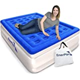 EnerPlex Never-Leak Queen Air Mattress with Built in Pump Raised Luxury Airbed Double High Queen Inflatable Bed Blow Up…