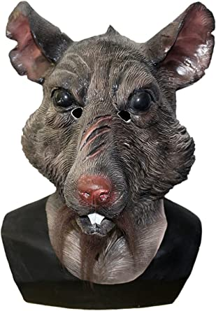 Rat Splinter Head Latex Mask Animal Mouse Monster Movie Costume Cosplay Party Fancy Dress Turtles Mask