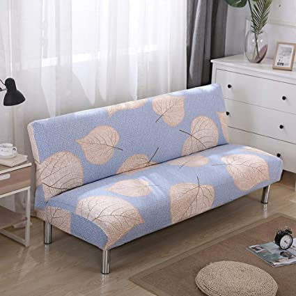 Groovy Lovehouse Surefit Armless Sofa Bed Covers Sofa Cover Stretch Polyester Printed Stain Resistant Sofa Slipcover Protector For 2 3 4 Seat Couch Living Bralicious Painted Fabric Chair Ideas Braliciousco
