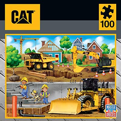 Masterpieces Caterpillar Jigsaw Puzzle in My Neighborhood, 100Piece: Toys & Games