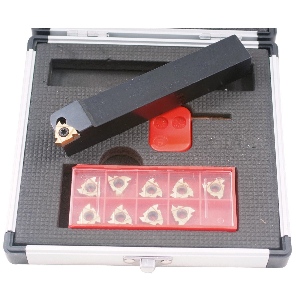 HHIP 2301-1625 External Indexable Threading Tool Holder and Insert Kit, 1/2''