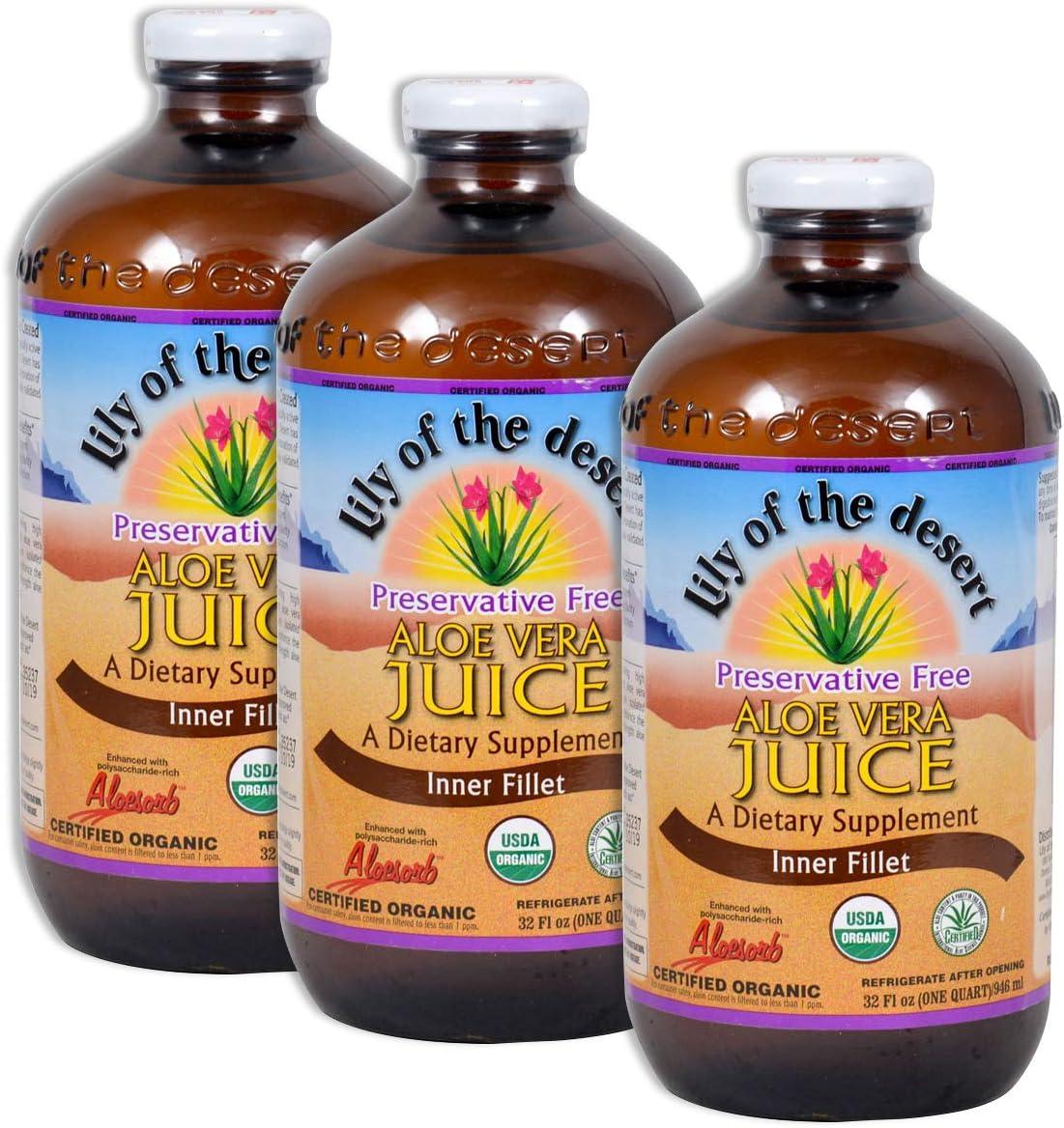 Lily of the Desert Aloe Vera Juice 32 oz (3)