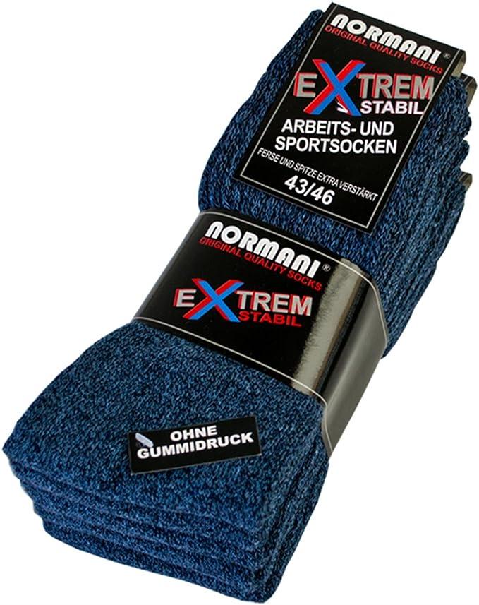 ohne gummidruck ! Ferse und Spitze EXTRA verst/ärkt normani 10 Paar EXTREM Stabile Arbeitssocken Socken