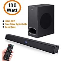 Zoook Rocker Studio One Soundbar with Subwoofer, HDMi Arc, Fiber Optic Cable 130w RMS or 200 W Peak Power - Super Bass(Black)