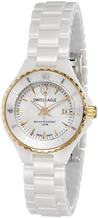 Swiss Eagle Analog Silver Dial Women's Watch-SE-6066-33