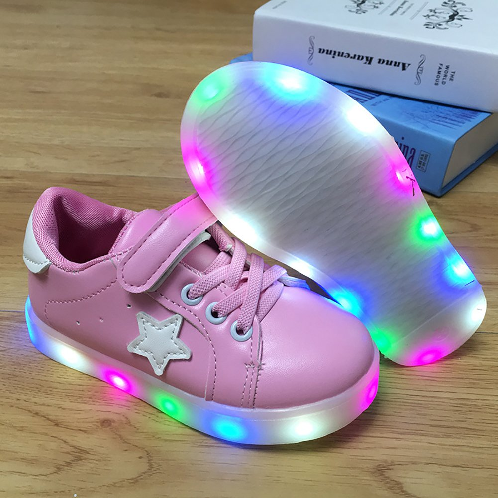 LANXI Kids LED Light Up Shoes Casual Sneakers for Boys Girls