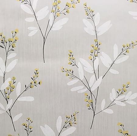 Flower wallpaper floral lorens luxury heavyweight grey yellow white flower wallpaper floral lorens luxury heavyweight grey yellow white fine decor mightylinksfo