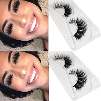 0ffbbbf3b6e Amazon.com : CGlashes Top Quality Long Thick 3D Mink False Eyelashes Wispy  Reusable Instant Eye Lift Effect 1 Pair Package (TOP-1) : Beauty