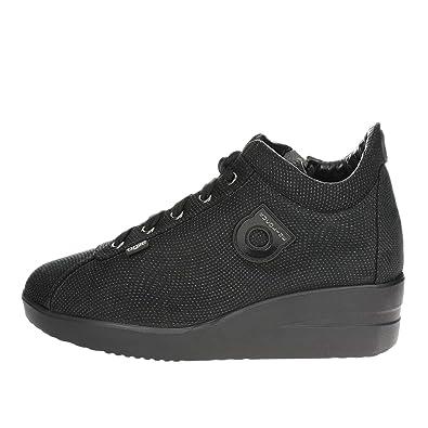 1304-1 Niedrige Sneakers Damen Schwarz 39 Agile by rucoline dXALmlpi1