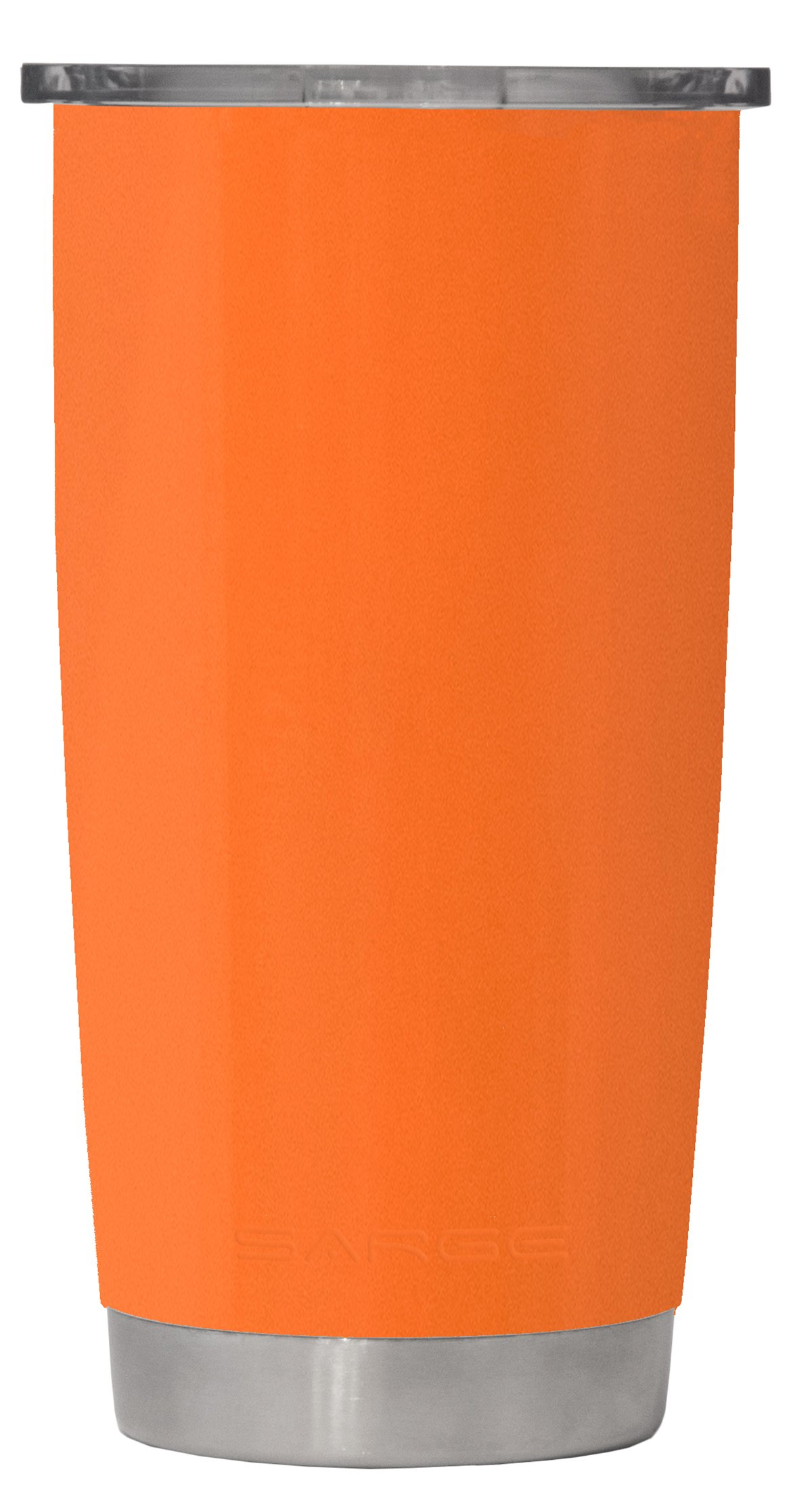 Sarge Knives DC-20OR 20 oz Stainless steel Tumbler with Shatterproof Lid and Orange Desert Cup
