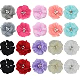 Toddlers Baby Girls Kids Teens Hair Bows Alligator Clips Flower Barrettes