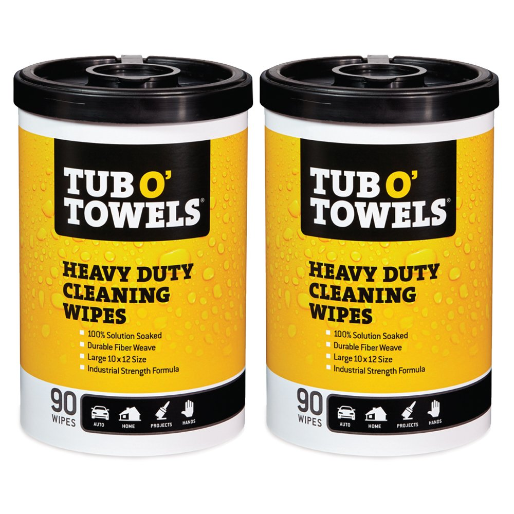 Tub O Towels Heavy-Duty Multi-Surface Cleaning Wipes, Citrus, 10 X 12 Inch, 2 Count Federal Process Corporation SYNCHKG126116