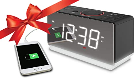 Amazon.com: ER100116 - Reloj despertador doble con pantalla ...