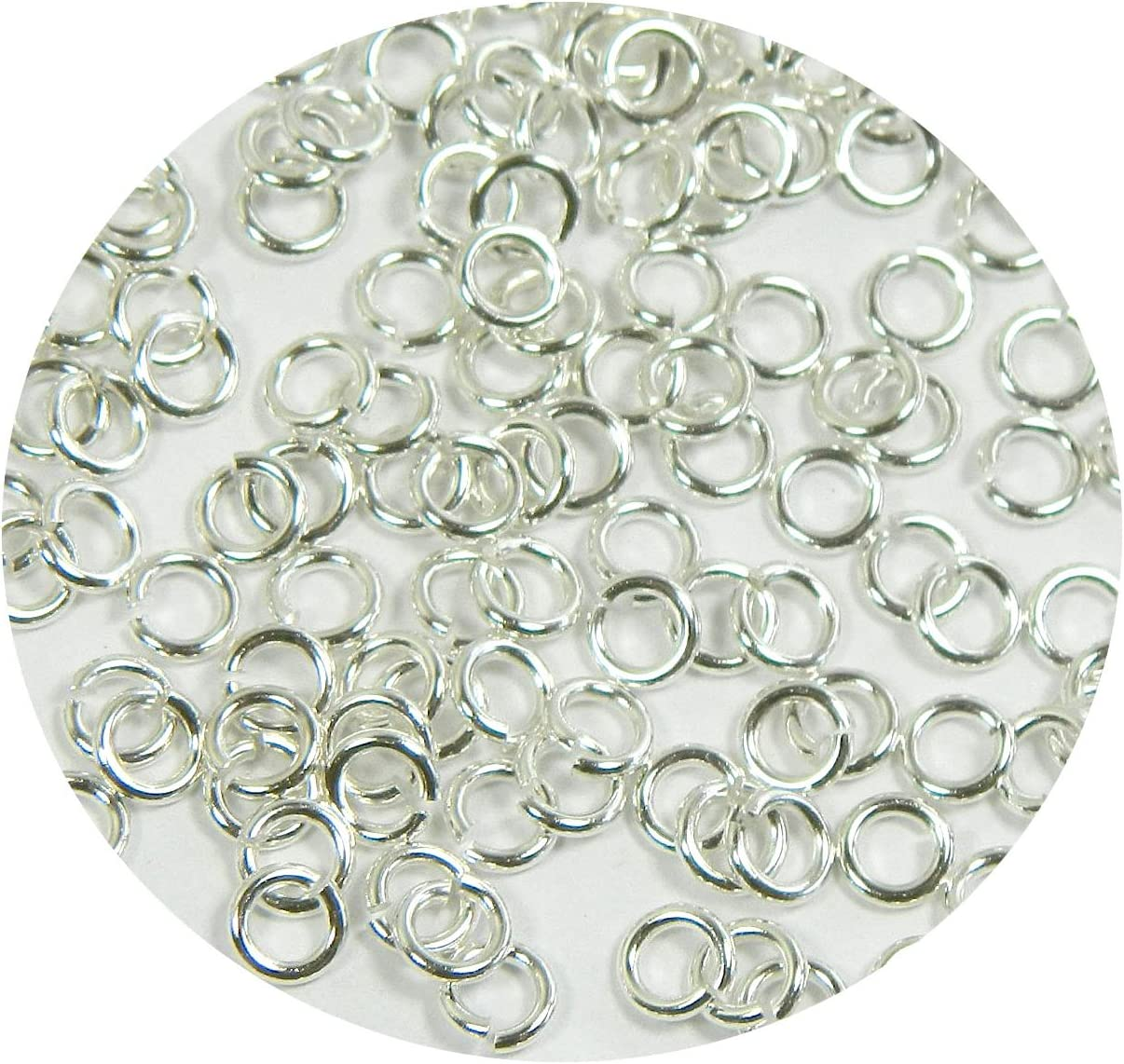 Rockin Beads Brand Jewelry Connectors Pkg of 400 9mm Round 16 Gauge 400 Jump Rings Silver-plated Brass