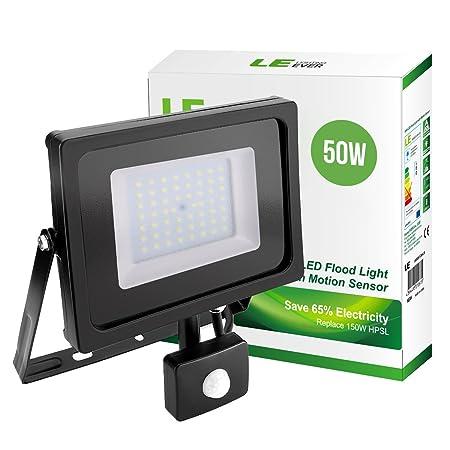 Le 10w Led Pir Floodlight Ip65 800 Lumen Security Light Daylight