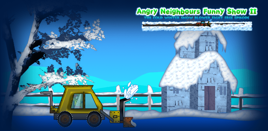 Angry Neighbours Funny Show 2 – The cold winter snow blower fight free episode Top Offers