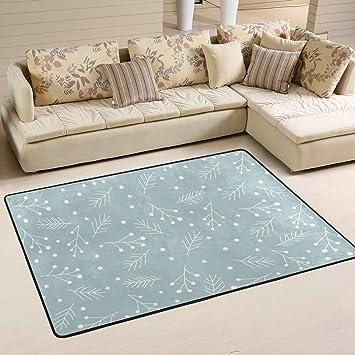 Amazon Com Cenhome Area Rugs Christmas Wicker Decoration Floor Mat