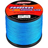 BAIKALBASS Braided Fishing Line 4 Strands Stronger Multifilament PE Braid Wire for Saltwater 6LB-100LB 110yards 328yards 547y