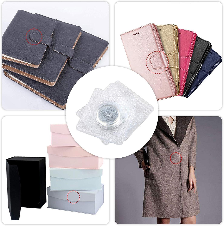 20 Pairs Invisible Hidden Sew in PVC Hidden Purse Closure Fastener Magnetic Snap Magnet Fastener for Handbag Clothing EEEKit Hidden Sew Magnetic Snap