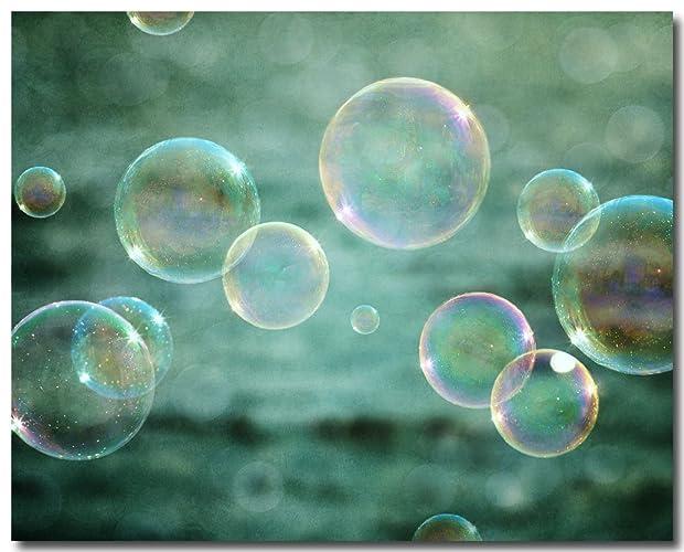 Bubbles Art Print For Childrenu0027s Bathroom Decor In Aqua, Teal And Pink    Art For