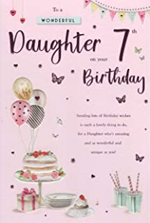Daughter 7th Birthday Card Amazoncouk Kitchen Home