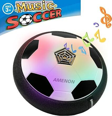 LED Light Hover Ball Floating Hockey Football 2in1 For Indoor Outdoor Boys Girls