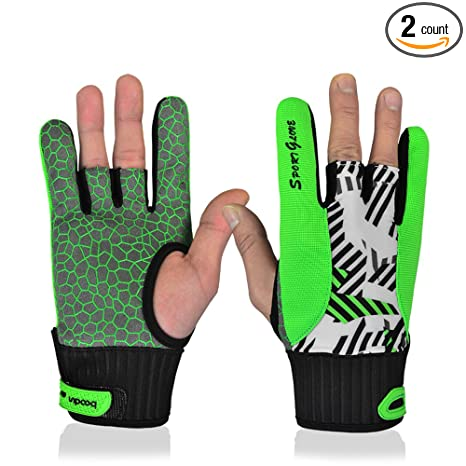 3f4edc280bf56 Professional Anti-Skid Bowling Gloves Comfortable Bowling Accessories  Semi-Finger Instruments Sports Gloves Mittens for Bowling