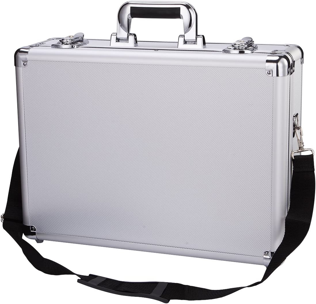 Aluminum Hard Case toolbox Briefcase Portable storage toolbox Carrying Case Organizer Flight Cases Camera Equiment Tool Case with Removable Foam